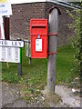 TM4084 : Silver Ley Postbox by Adrian Cable