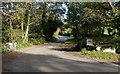 SW4425 : Road crosses the stream by Elizabeth Scott