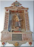 TQ5802 : Monument to Sir John Parker, Willingdon church by Julian P Guffogg