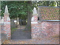 SE6111 : The churchyard gates, Kirk Bramwith by Jonathan Thacker