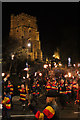 TQ8209 : Hastings Bonfire Parade past All Saints' Church by Oast House Archive