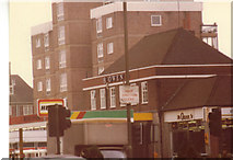 TQ2688 : Heron Garage on Lyttelton Road, 1982 by David Howard