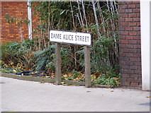 TL0450 : Dame Alice Street Sign by Adrian Cable