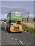 NS5566 : GVVT Open Day 2012: A Glasgow Corporation Leyland Titan Approaching Riverside Museum by James T M Towill