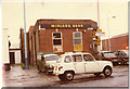 TQ2082 : My Renault 4 on the corner of Acton Lane in 1981 by David Howard