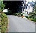 SO3305 : Greenmeadow farmhouse near Goytre by Jaggery
