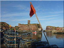 NT6779 : Coastal East Lothian : Red Flag at Victoria Harbour, Dunbar by Richard West