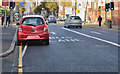 J3473 : Bus lane, May Street, Belfast by Albert Bridge