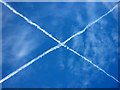 SD9066 : Saltire above Great Close Hill by Karl and Ali