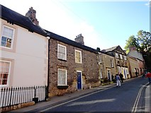 NY9364 : Old houses on Hallstile Bank, Hexham by Robert Graham