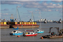 TQ3979 : Boats at North Greenwich by Oast House Archive