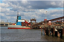 TQ4079 : Ship at Angerstein Wharf  by Oast House Archive
