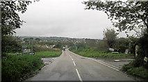 SW5636 : B3302 Mellanear Road crossroads by Stuart Logan