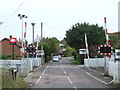 SP9336 : Level crossing at Aspley Guise by Malc McDonald