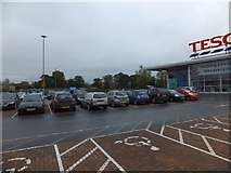 ST0207 : Supermarket car park for Tesco by David Smith