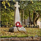 NY4756 : War Memorial and Church, Holme Eden by David Dixon