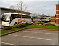 ST1185 : Ferris coaches in Parc Nantgarw by Jaggery