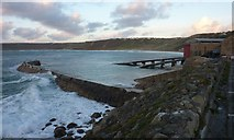 SW3526 : Breakwater and Life Boat Station, Sennen Cove by Ivan Hall