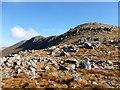 NN1342 : Bouldery slope above Bealach an Lochain Ghaineamhaich by Alan O'Dowd