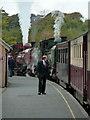 SH5258 : Welsh Highland Railway - Waunfawr Station by Chris Allen