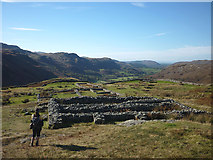 NY2101 : Inside Mediobogdum (Hardknott Castle Roman fort) by Karl and Ali