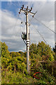 SU5033 : Replacement of overhead electricity lines on Grace's Farm by Peter Facey