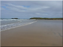 SW5742 : Godrevy Beach at low water by Richard Law