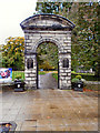 NY9364 : Northumberland Fusiliers - World War One Memorial Arch, Hexham by David Dixon