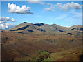 NY2102 : Upper Eskdale and the Scafell range from Harter Fell by Karl and Ali