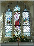 SY7699 : St Martin, Cheselbourne: stained glass window (i) by Basher Eyre