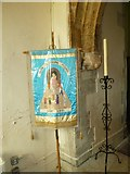 SY7699 : St Martin, Cheselbourn: banner by Basher Eyre