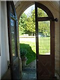 SY7699 : St Martin, Cheselbourne: south door by Basher Eyre