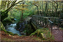 NY1700 : Bridge Across the River Esk, Cumbria by Peter Trimming