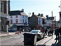 J2664 : The junction of Railway Street and Castle Street, Lisburn by Eric Jones
