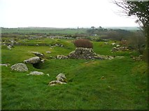 SW4028 : Remains of Iron Age house, Carn Euny by Humphrey Bolton