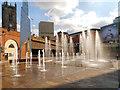 SJ8398 : Greengate Fountains by David Dixon