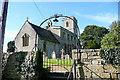 SP2422 : Bledington church by Graham Horn