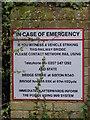 TM3973 : Sibton Road Railway Bridge sign by Adrian Cable