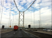 NT1279 : Crossing the Forth Road Bridge by Andrew Abbott