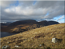 NN5166 : Hill slope with rocks north of Sron a' Chlaonaidh by Trevor Littlewood