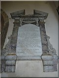 ST5707 : Melbury Osmond Church: memorial (g) by Basher Eyre