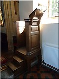 ST5707 : Melbury Osmond Church: pulpit by Basher Eyre