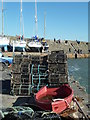 SN3960 : Red boat and lobster pots - New Quay by Chris Allen