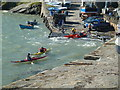SN3960 : New Quay - kayaks by Chris Allen