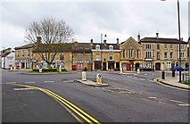 TF1309 : Town centre road junction, Market Deeping by P L Chadwick