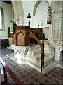 TL1864 : St Leonard's Church Southoe, Pulpit by Alexander P Kapp