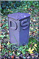 SP4819 : Benchmarked DIS post beside the Oxford Canal by Roger Templeman
