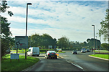SY9287 : A351 roundabout, Wareham by Robin Webster