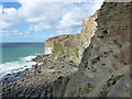 SW6747 : Cliffs bounding Sally's Bottom by Richard Law