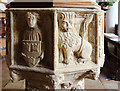 TG3006 : St Mary, Surlingham - Font bowl by John Salmon